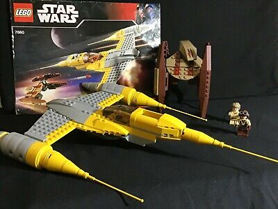 Lego Star Wars Naboo N-1 Starfighter + Vulture Droid - Model 7660 -2 minifigs