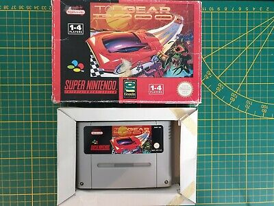 RARE Super Nintendo SNES TOP GEAR 3000 Boxed Boite OVP PAL SNSP-A3TP-EUR