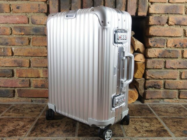 rimowa topas cabin multiwheel carry on 34l aluminium 92353004 ebay. Black Bedroom Furniture Sets. Home Design Ideas