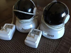 Levana camera x2.  Cameras and cords ONLY. For baby monitor
