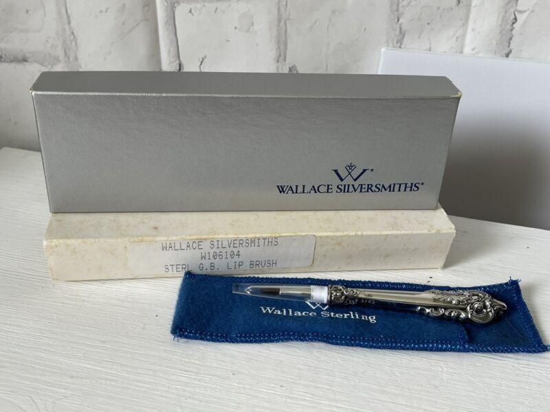 Wallace Grande Baroque Sterling Silver Lip Shadow Cosmetic Brush NIB NOS