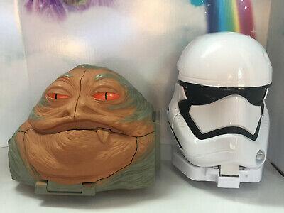 Galoob STAR WARS 1997 Jabba Hutt, 2015 Storm Trooper Micro Machines Playset LOT