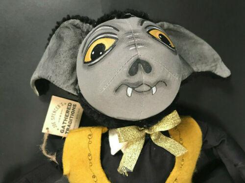 "Gideon Vampire Bat Halloween 20"" Doll by Joe Spencer NEW NWT Gallerie II"