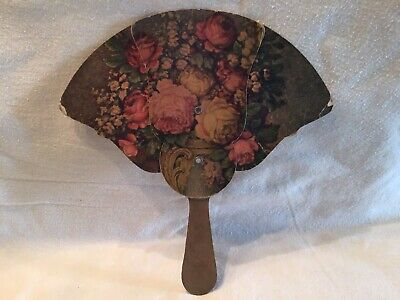 Vintage Cardboard Expanding Fan With Flowers And Advertising Shenendoah VA