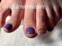 Pedicure gel polish and gel polish Manicure