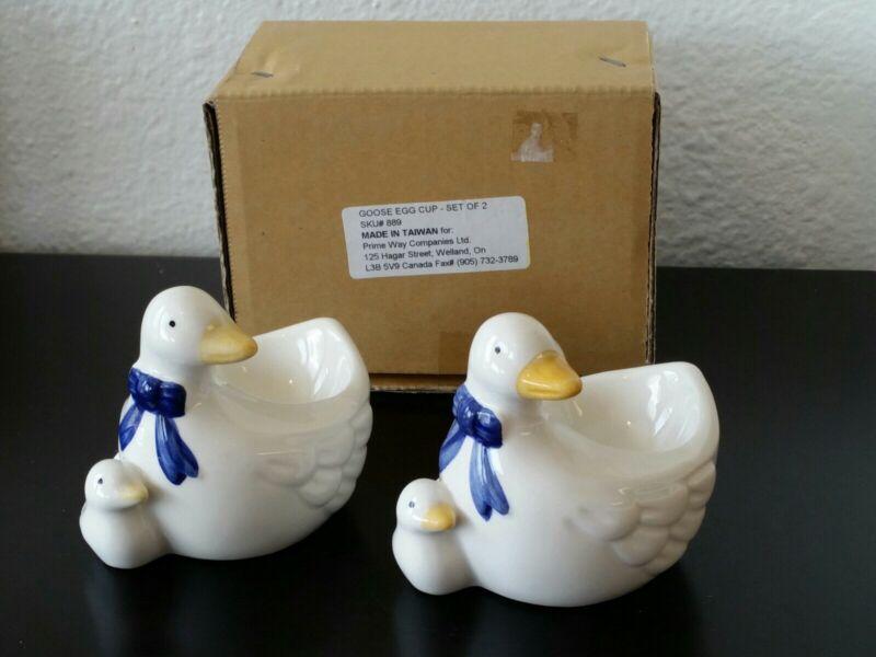 Pair of 2 Goose & Gosling Egg Cups in original packaging
