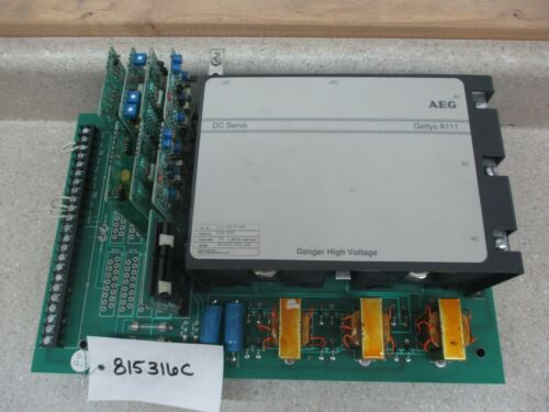 AEG GETTYS DC SERVO CONTROLLER DRIVE 240V 60A # 815316C USED