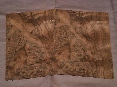 American Walnut Burl Sequenced Veneer - Rawunbacked -2 Sheets  9 X 7.