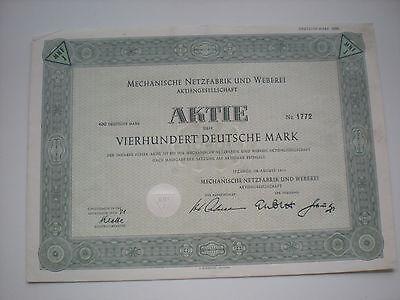 Deutschland - Mechanische Netzfabrik und Weberei AG  1/114