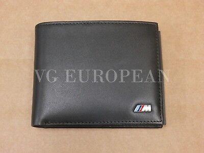 BMW Genuine M Power Black Leather Bi Fold Wallet