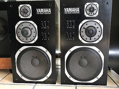 YAMAHA NS-1000M Studio Monitor Vintage 1975, Very Rare Original Working Perfect