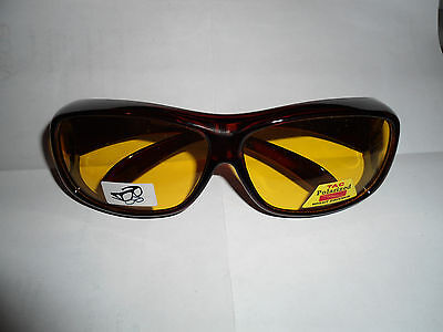 NEW Polarized Sunglasses that fit over eyeglasses. Good for night driving.
