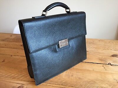 Mens Hugo Boss Leather Briefcase for sale  Shipping to South Africa