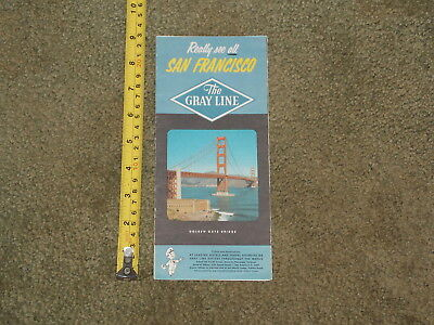 VINTAGE BROCHURE SAN FRANCISCO THE GRAY LINE GOLDEN GATE BRIDGE