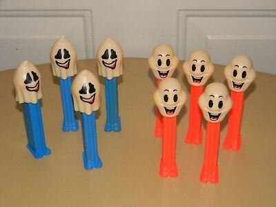 VTG PEZ CANDY DISPENSER WITH FEET HALLOWEEN GHOST & GHOUL LOT OF 9 HUNGARY