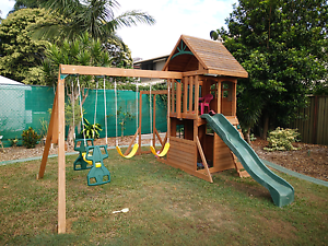 Kids timber fort/swing set/ cubby house Kallangur Pine Rivers Area Preview