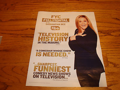 Full Frontal With Samantha Bee 2017 Emmy Ad  Television History In The Making