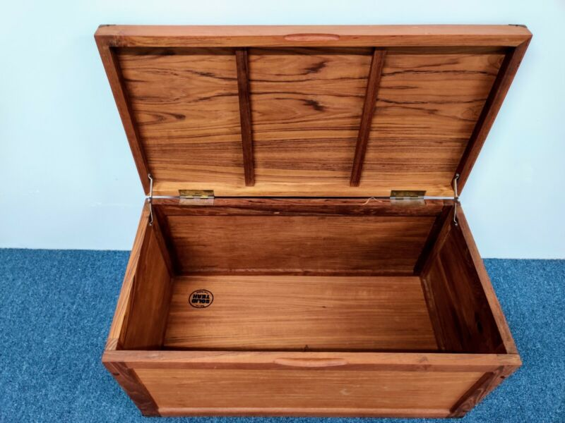 1960s Thailand Modern TEAK Small Scale Chest Entry Table Mid Century