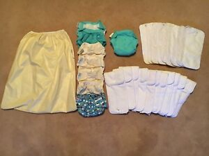 Reusable diapers/ liners, inserts, all in one and pail liner