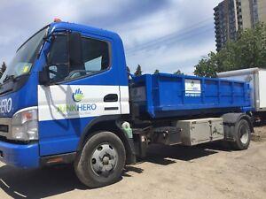 5 yard bin rental $220 flat rate, dirt bin, concrete bin