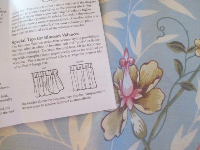 Laura ashley window valance floral pavilion blouson blue