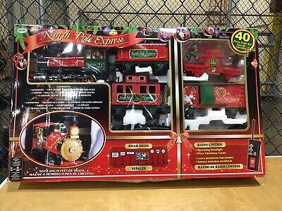 Vintage Eztec 40 piece NORTH POLE EXPRESS Christmas Train Set W/ Elves 2013?