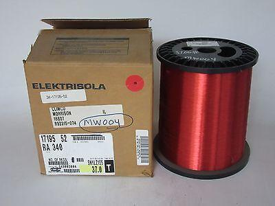 34 Awg 37 Lbs. Elektrisola Pn155 Single Enamel Coated Copper Magnet Wire