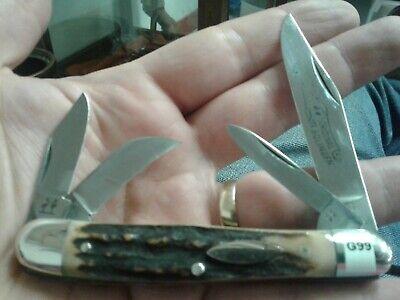 """ROBI KLAAS KISSING CRANE GERMANY 3.75"""" STAG POCKET KNIFE UNUSED G99"""