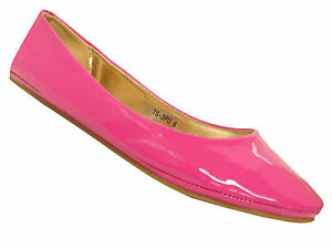 womens patent flat dolly ballet pumps shoes ladies uk size 3 8