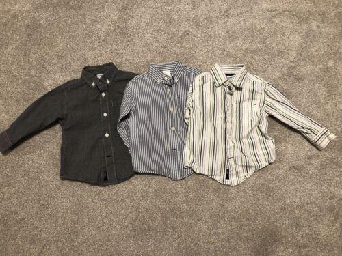 Lot Of Gymboree Baby Toddler Boy Button Up Dress Shirts 18-24 Months 100% Cotton