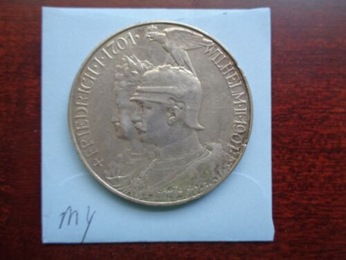 1901 Germany 5 Mark large silver coin