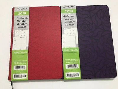 2018-2019 Avalon 18-month Weeklymonthly Calendar Planner Appointment Book