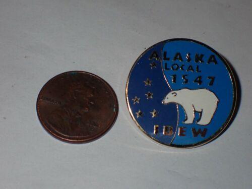 IBEW Collectible Lapel Pin Local 1547 Alaska