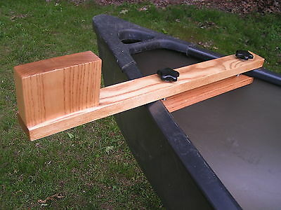 Canoe trolling motor mount - Solid Ash Natural Finish