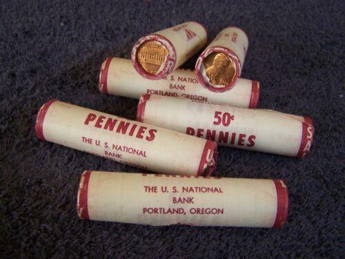1974 S+D  *Original Bank Wrapped Lincoln Roll* San Francisco/Denver Mint Mix (H)