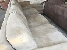 Cream suede Corner lounge chaise Plumpton Blacktown Area Preview