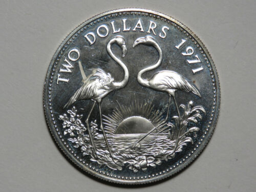 1971 Bahama Islands Two Dollars - Franklin Mint Proof - 925 Sterling Silver