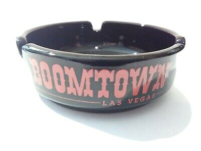 BOOMTOWN CASINO LAS VEGAS, NEVADA VINTAGE LOGO ASHTRAY GREAT FOR ANY COLLECTION!