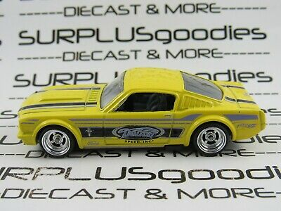 Hot Wheels LOOSE Lemon 1965 '65 FORD MUSTANG Fastback Custom SUPER w/Real Riders