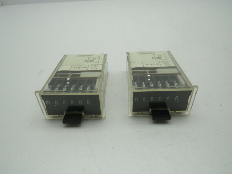 Sodeco RG161E 6 Digit Counter LOT OF 2