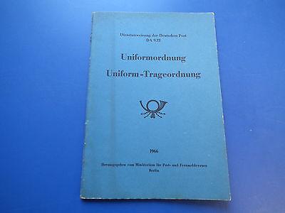 Uniformordnung. Uniform-Trageordnung. Dienstanweisung der Deutschen Post DA 9.22