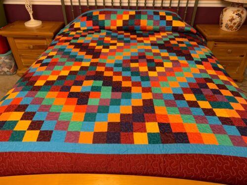 King   size  Trip around the world machine quilted quilt# J-60