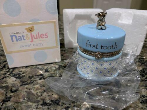 Nat and Jules First Tooth Keepsake Blue Box NIP