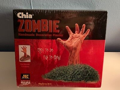 CHIA Pet ZOMBIE Restless Arm Walking Dead Halloween Goth Romero Horror Planter - Chia Pet Halloween