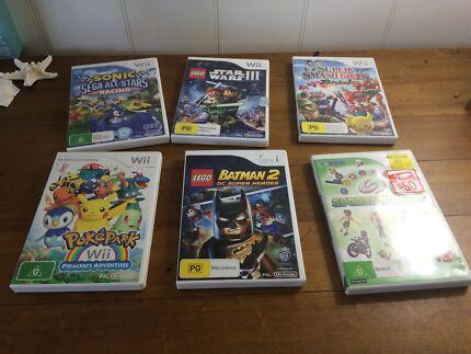Wii Games - Bundle pack of 6 Brighton Brisbane North East Preview