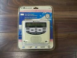 MIDLAND Weather Alert Radio/Alarm Clock  WR120-Never Opened