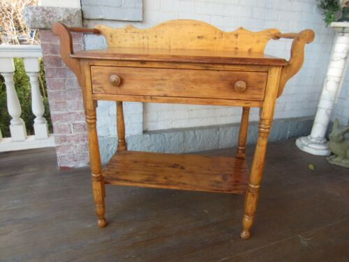 Antique Wash Stand with wood towel bars - Central PA  Nice