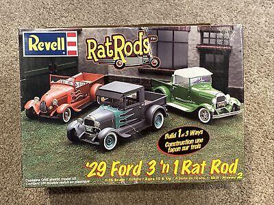 Opened Revell 3 'n 1 1929 Rat Rod 1/25 Plastic Model Car/Truck Kit No. 2348