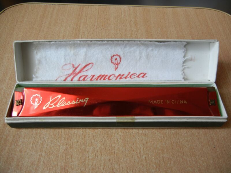 Vintage Blessing Harmonica  with Original Box