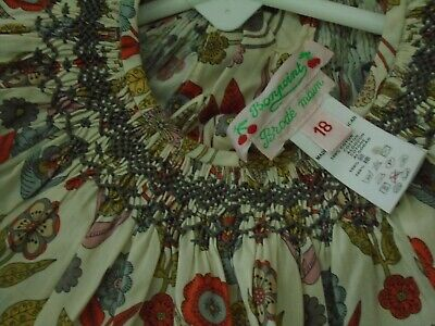 Bonpoint Designer Blouse Size 18 Months BNWOT Smocked Back button